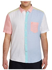 Nautica Pieced Linen Sport Shirt