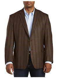 Jean-Paul Germain Wool Windowpane Sport Coat--Executive Cut