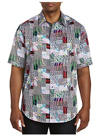 Robert Graham DXL Multi Geo Print Sport Shirt