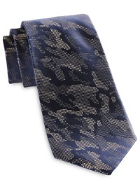 Michael Kors Pixelated Camo Silk Tie