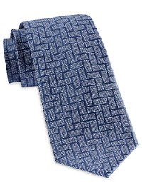 Michael Kors Rectangular Weave Silk Tie