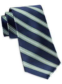 Michael Kors Trio Satin Stripe Silk Tie