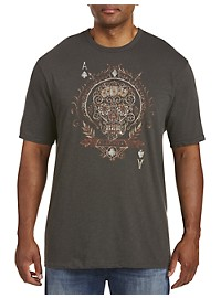 Lucky Brand Gambling Skull Graphic Tee