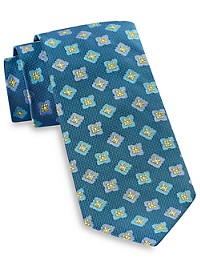 Robert Talbott Textured Floral Medallion Silk Tie