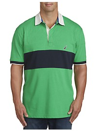 Nautica Quilted Stripe Polo Shirt