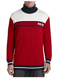 Nautica Colorblock Turtleneck Sweater