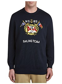 Nautica Logo Graphic Crewneck Sweater