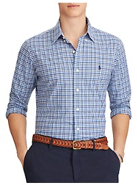 Polo Ralph Lauren Classic Fit Gingham Poplin Sport Shirt
