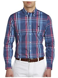 Brooks Brothers Non-Iron Bold Plaid Oxford Pinpoint Sport Shirt