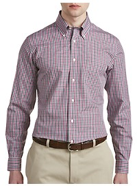 Brooks Brothers Non-Iron Small Check Broadcloth Sport Shirt