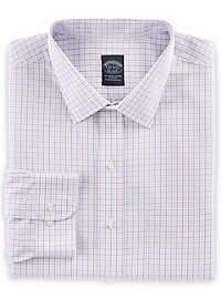 Brooks Brothers Non-Iron Triple Check Broadcloth Dress Shirt
