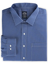 Brooks Brothers Non-Iron Stretch Check Dress Shirt