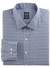 Brooks Brothers Non-Iron Stretch Glen Plaid Dress Shirt
