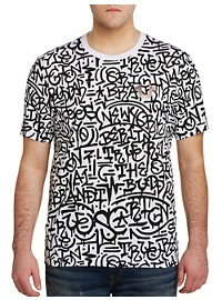 True Religion Graffiti Print Tee