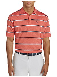 Callaway Clean Heather Stripe Polo Shirt