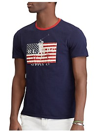 Polo Ralph Lauren Classic Fit USA Flag with Pony Graphic Tee