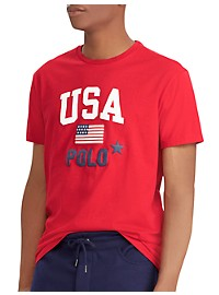 Polo Ralph Lauren Classic Fit Polo USA Graphic Tee