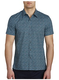 Perry Ellis Puzzle-Print Stretch Sport Shirt