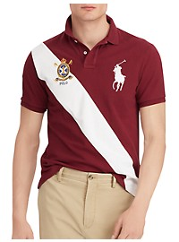 Polo Ralph Lauren Big Pony Diagonal Stripe Mesh Polo