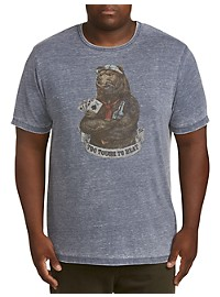Lucky Brand Too Tough To Beat Bear Graphic Tee