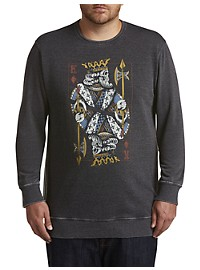 Lucky Brand King Card Burnout Sweatshirt