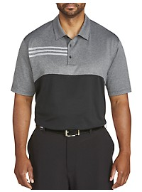 Adidas Ultimate Heather Blocked Polo Shirt