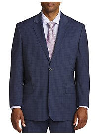 Geoffrey Beene Mini Windowpane Suit Jacket