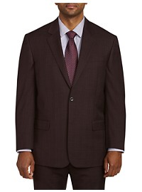 Geoffrey Beene Tonal Plaid Suit Jacket