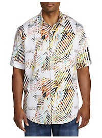 Robert Graham DXL Palm-Tree Print Sport Shirt
