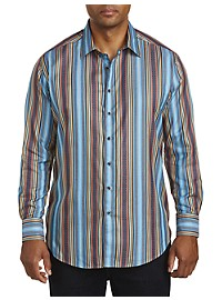 Robert Graham DXL Multi Stripe Sport Shirt