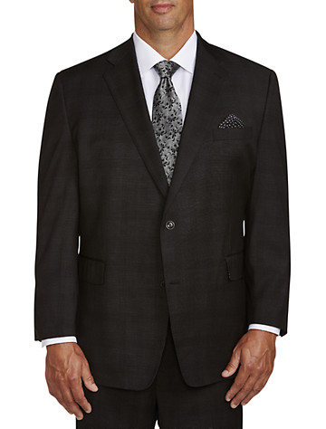 Big & Tall Tallia Orange Tonal Plaid Suit Jacket