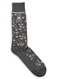 Psycho Bunny Flower Dot Socks