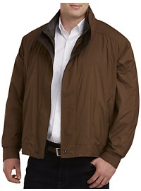 Remy Double Leather-Collar Nylon Jacket