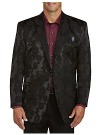 Tallia Orange Large Floral Sport Coat - Executive Cut