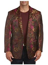 Tallia Orange Exploded Floral Sport Coat