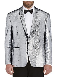 Tallia Orange Sequin Dinner Jacket
