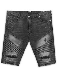 MVP Collections Ripped Moto Shorts