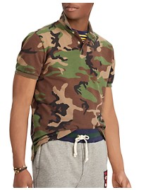 Polo Ralph Lauren Classic-Fit Surplus Camo Mesh Polo Shirt