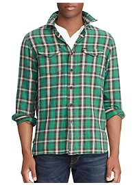 Polo Ralph Lauren Brushed Twill Plaid Sport Shirt