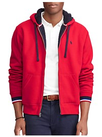 Polo Ralph Lauren Contrast Sherpa Fleece Full-Zip Hoodie