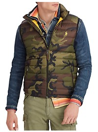 Polo Ralph Lauren Camo Packable Down Vest