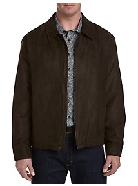 Perry Ellis Brown Faux-Suede Jacket