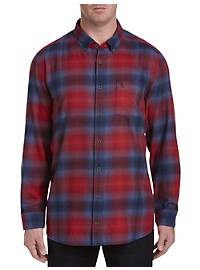 Original Penguin Ombré Plaid Sport Shirt