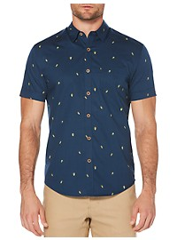 Cubavera Mini Avocado Print Sport Shirt