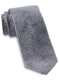 Michael Kors Tie-Dye Abstract Botanical Silk Tie