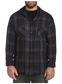Buffalo David Bitton Sidron Hooded Plaid Sport Shirt