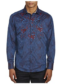 Robert Graham Imprint Navy Sport Shirt