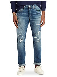 Polo Ralph Lauren Thompkins Wash Hampton Repaired Jeans