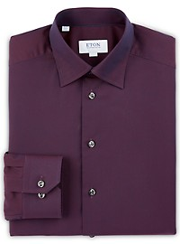Eton Textured Neat Dress Shirt