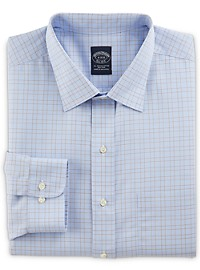 Brooks Brothers Non-Iron Overcheck Broadcloth Dress Shirt